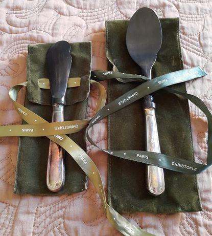 Набор Christofle, ложка и нож для икры !!!