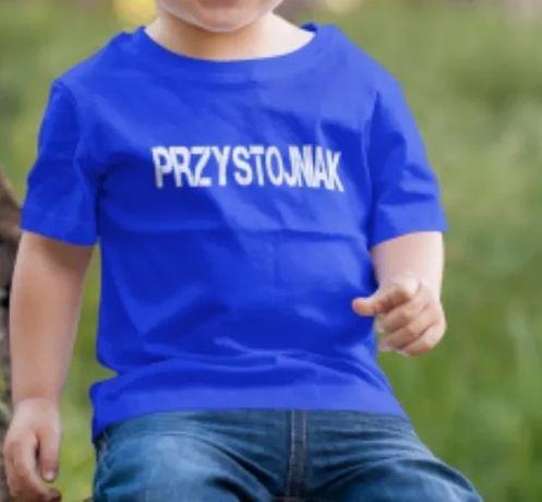 T-shirt z napisem Przystojniak