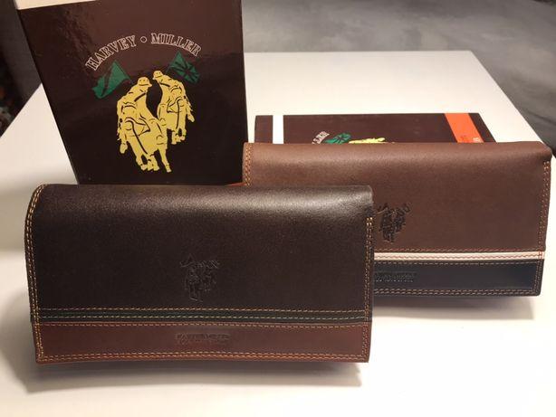 Skórzany włoski portfel marki Harvey Miller - Polo Club