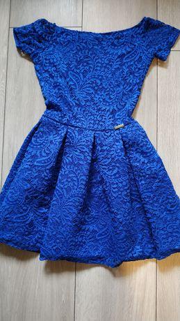 Niebieska Sukienka XS