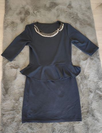 Elegancka, granatowa sukieneczka