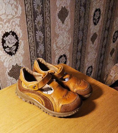 Кожаные сандалии.