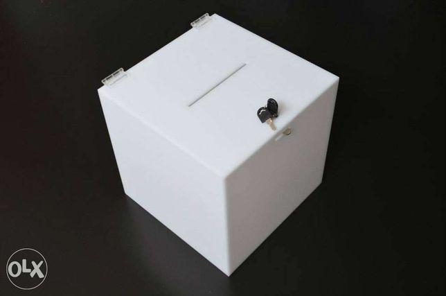 URNA pleksi opal POWIAT nieprzezroczysta gr 4mm 30x30x30 lub inne