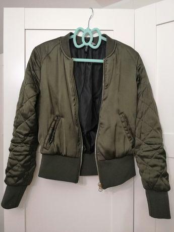 Bomberka damska zielona/oliwkowa H&M