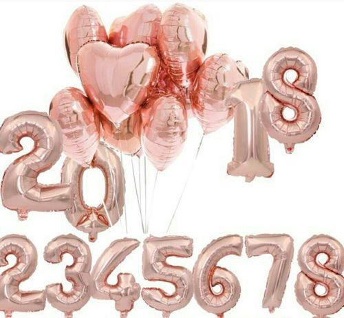 Фольгированные цифры на день рождения 80см (декор, фотозона, шары)