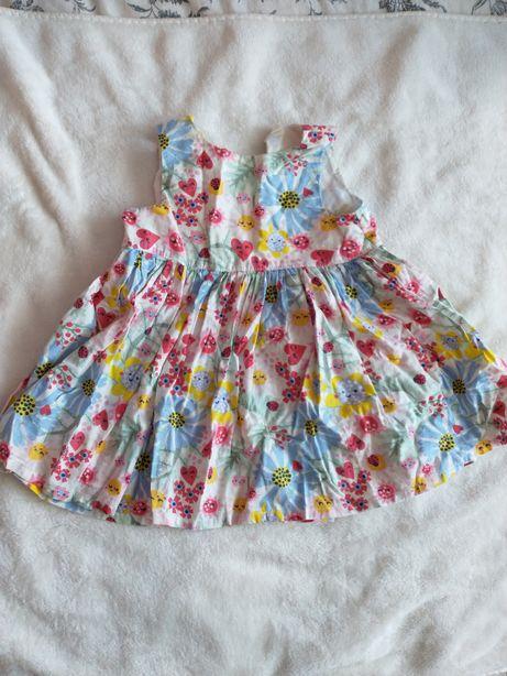 sukienka H&M 74 śliczna elegancka