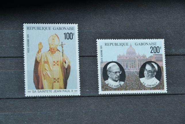 Znaczki. Gabon. Papież Jan Paweł II **
