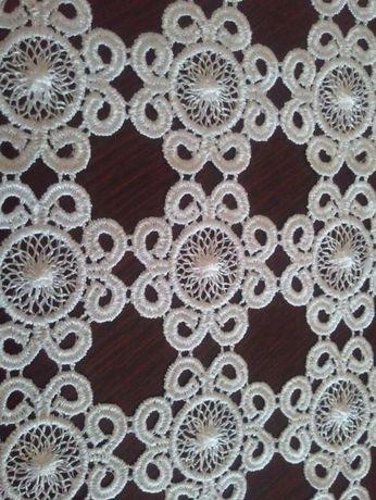 Gipiura biała-kwiatki ,do bluzki,sukienki itp-śnieżynka