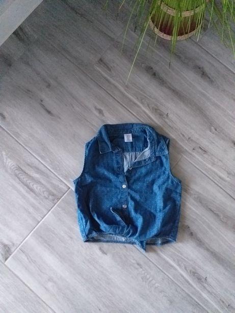 Koszula wiązana h&m roz 116 miękki jeans bluzka bluzeczka