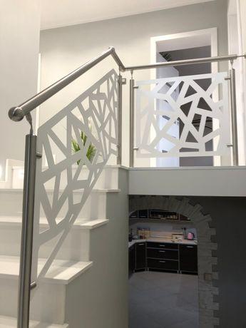 Schody balustrady drewniane,granitowe,szklane samonosne