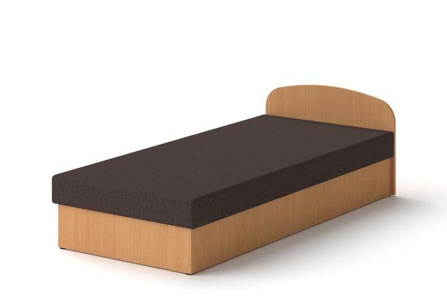 Łóżko hotelowe 90 x 200 Buk tapczan z materacem
