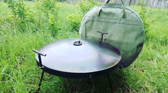 Сковорода из диска 40 и 50 см. для большой компании крышка садж чехол