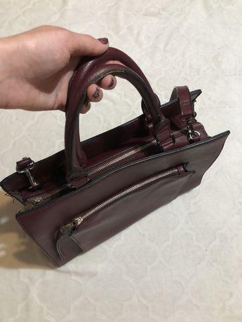 Bordowa torba A4 Stradivarius torebka z regulowanym paskiem