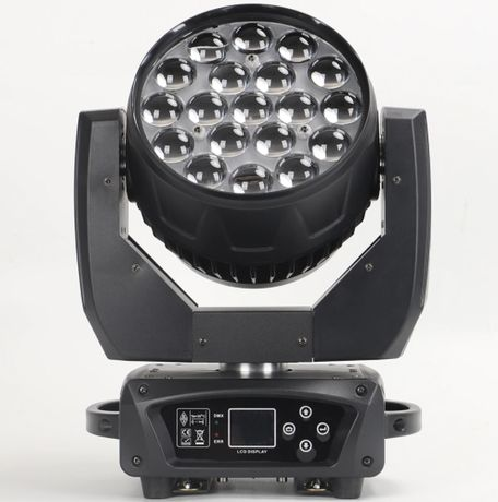 Głowa Ruchoma Oświetlenie LED WASH OSRAM 19x15W Zoom RINGI bee eye