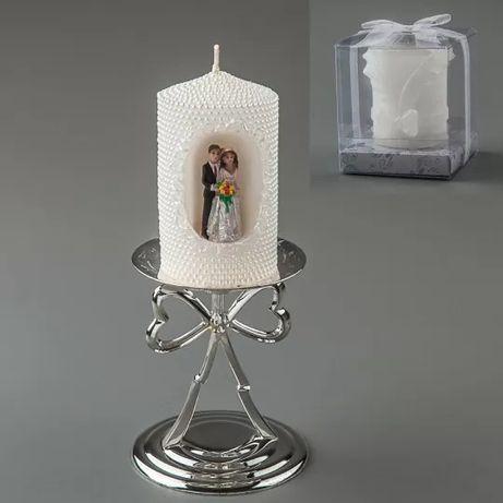 Свадебная свеча с молодоженами 10 см
