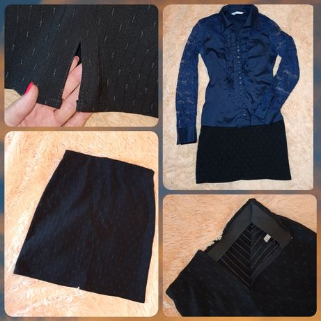 Супер юбка карандаш черная