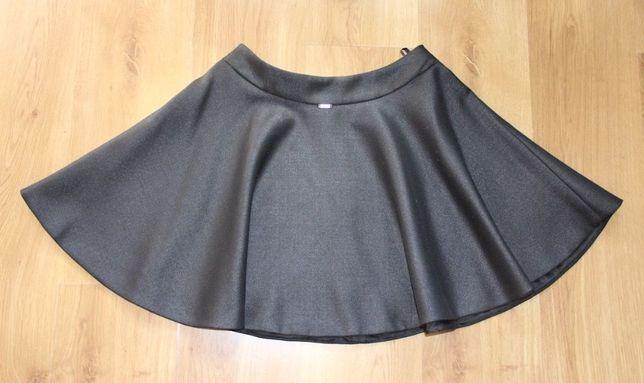 SIMPLE czarna spódniczka z koła logo zamek 36 S