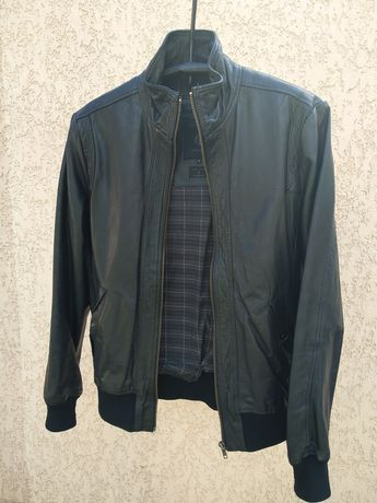 Кожаная куртка Jack&Jones Premium. р. М.
