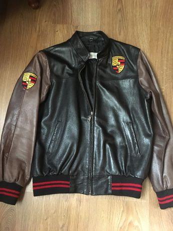 Натуральная кожаная куртка, бомбер на подростка