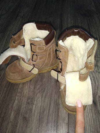 Ортопедические зимние ботинки / сапожки на ребенка 18 см по стельке