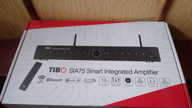 Tibo SIA75 - inteligentny wzmacniacz zintegrowany  wifi bluetooth