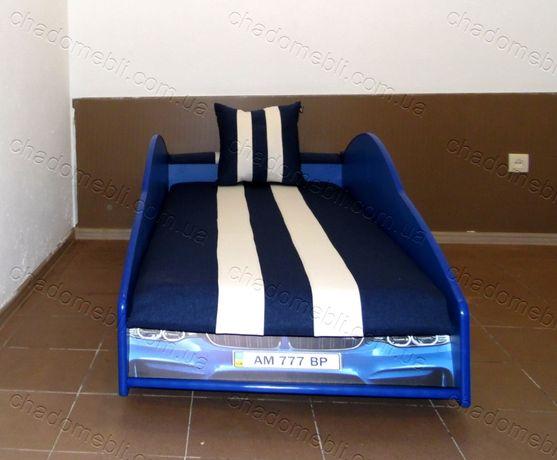 Ліжко машина з матрасом-механізмом кровать машина БМВ кроватка 80х170
