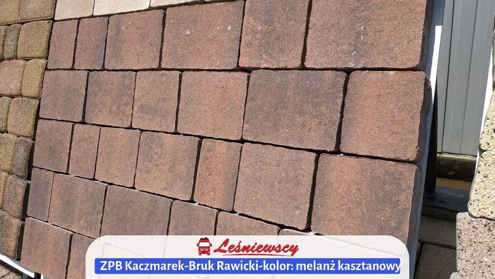 Kostka brukowa Bruk Rawicki-melanż kasztanowy na podjazd ZPB Kaczmarek