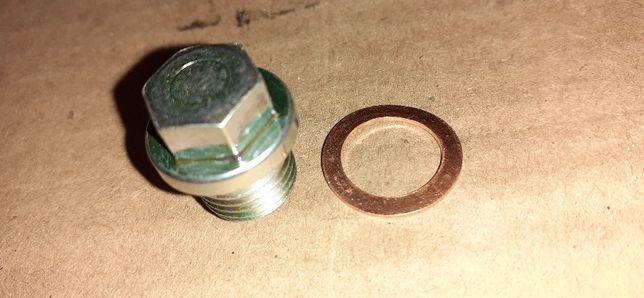 Fabrycznie nowy korek spustu oleju silnika wsk125 z magnesem m14+uszcz