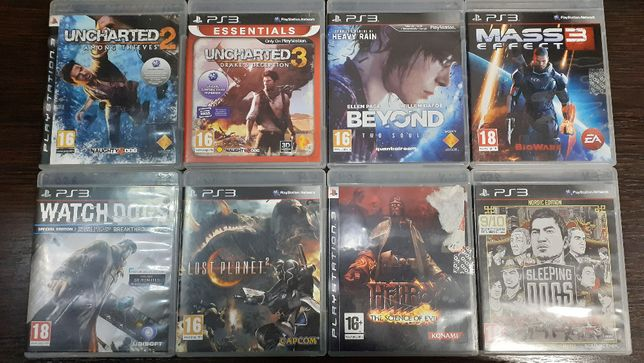 Диски для PS3 Uncharted/Lost Planet 2/Beyond/Watch Dogs/Mass Effect 3