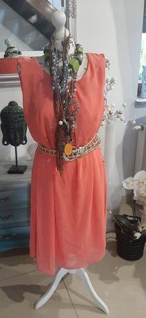 Koralowa Sukienka 40-44