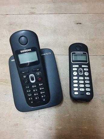 Zestaw dwa telefony stacjonarne Siemens DE Gigaset Al170 Al28H Al17H