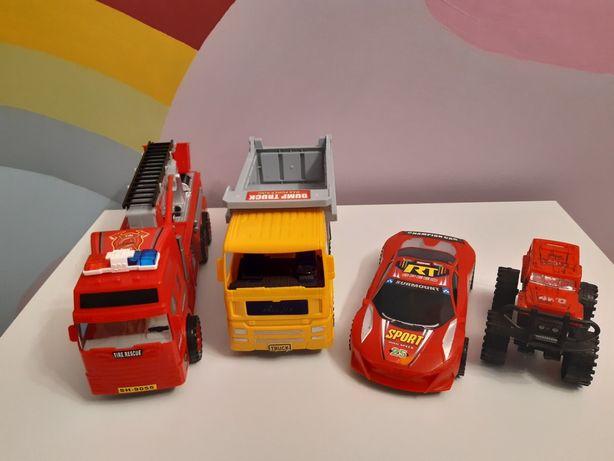 Samochodziki wóz strażacki, wywrotka, monster truck, sportowy