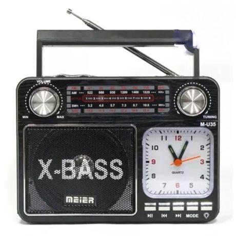 RADIO FM BUDOWLANE z akumulatorem USB AUX SD MP3 x-bass