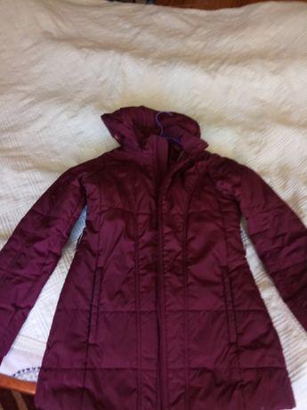 kurtka / płaszcz damska bordo rozm S (na ok 160-165 cm wzrostu)