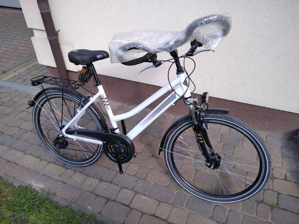 Nowy rower trekkingowy aluminiowy Performance damski prądnica