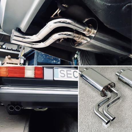 -= Mercedes SEC W126 W124 S500 S560 tłumik wydech kwasówka BRABUS AMG