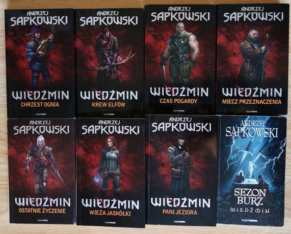 Wiedźmin - komplet saga 8 tomów - Andrzej Sapkowski
