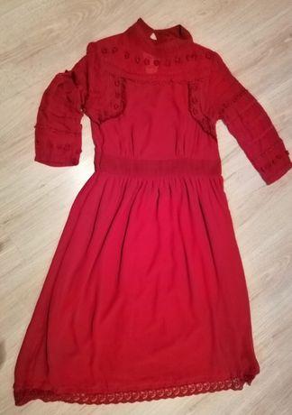 Sukienka czerwona świąteczna