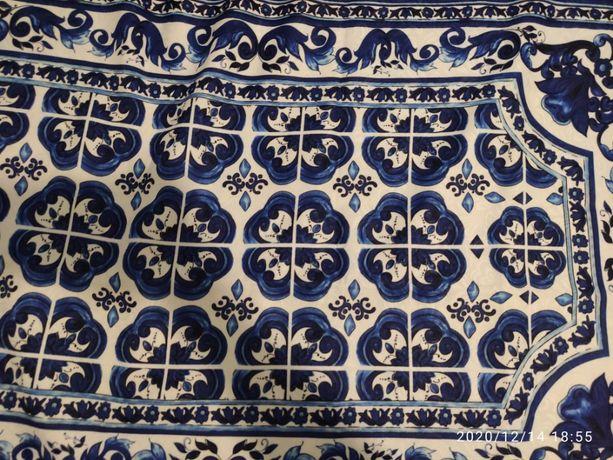 tkanina materiał żakard tłoczony ceramika porcelana kobaltowy