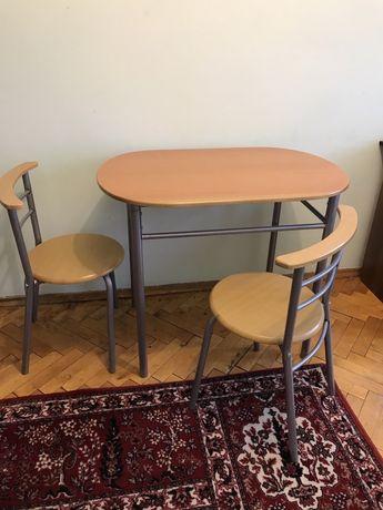 Кухонний стіл + 2 стільці