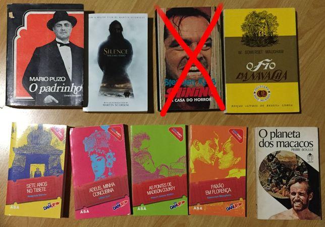 Lote de livros que serviram de base a filmes