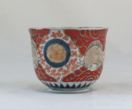 Tigela/taça porcelana japonesa decorada com padrão imari-Meiji Periodo