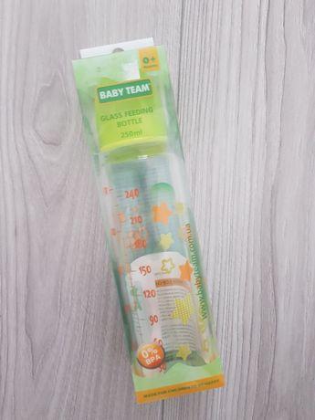 Бутылочка стеклянная для кормления Baby team новая, поильник, бутылка