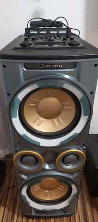 Głośnik karaoke Manta. Mocny bass, bluetooth,usb