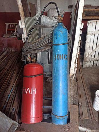 Газосварка/резак, в полном комплекте + тележка (Баллоны заправленные)
