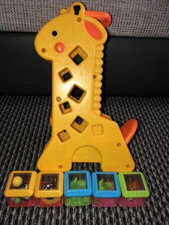 Żyrafa fisher price - klocki sensoryczne Zamienię na inna