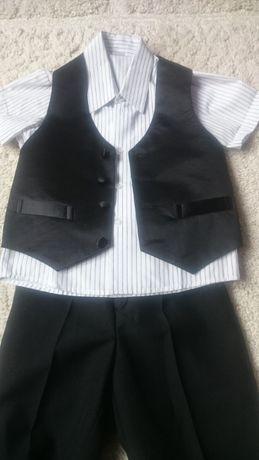 Koszula ze spodniami i kamizelką