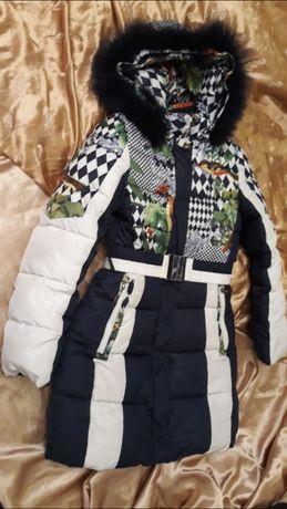 пуховик пальто зимнееBilemi Италия рост 134-146 на морозную зиму