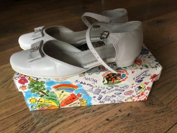 Buty dziewczęce na komunię i inne okazje rozm. 34 firma Emel skóra