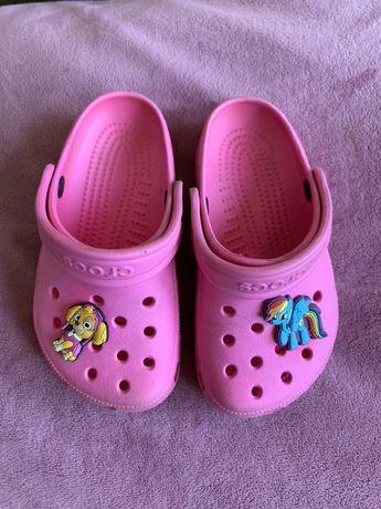 Кроксы Crocs С 8/9 оригинал розовые на девочку 26 размер